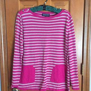Jones New York striped lightweight sweater